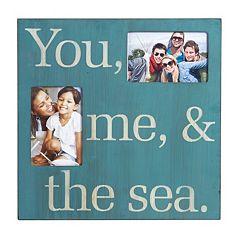 Melannco 2-Opening 4'' x 6'' ''Sea'' Collage Frame