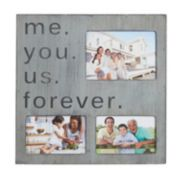 Melannco 3-Opening ''Me You Us Forever'' Collage Frame
