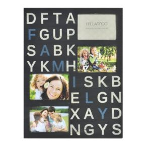 Melannco 4-Opening 4'' x 6'' ''Family'' Collage Frame