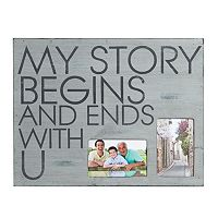 Melannco 2-Opening 4'' x 6'' ''My Story'' Collage Frame