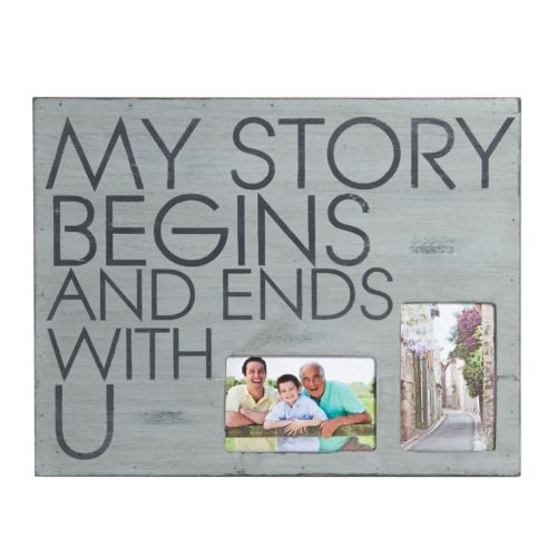 """Melannco 2-Opening 4"""" x 6"""" """"My Story"""" Collage Frame"""