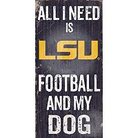 LSU Tigers Football & My Dog Sign