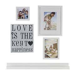 Melannco 5 pc 'Love Is The Key' Frame & Wall Decor Set