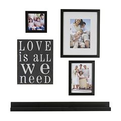 Melannco 5 pc 'Love Is All We Need' Frame & Wall Decor Set