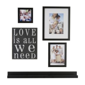 """Melannco 5-piece """"Love Is All We Need"""" Frame & Wall Decor Set"""