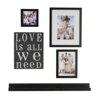 "Melannco 5-piece ""Love Is All We Need"" Frame & Wall Decor Set"