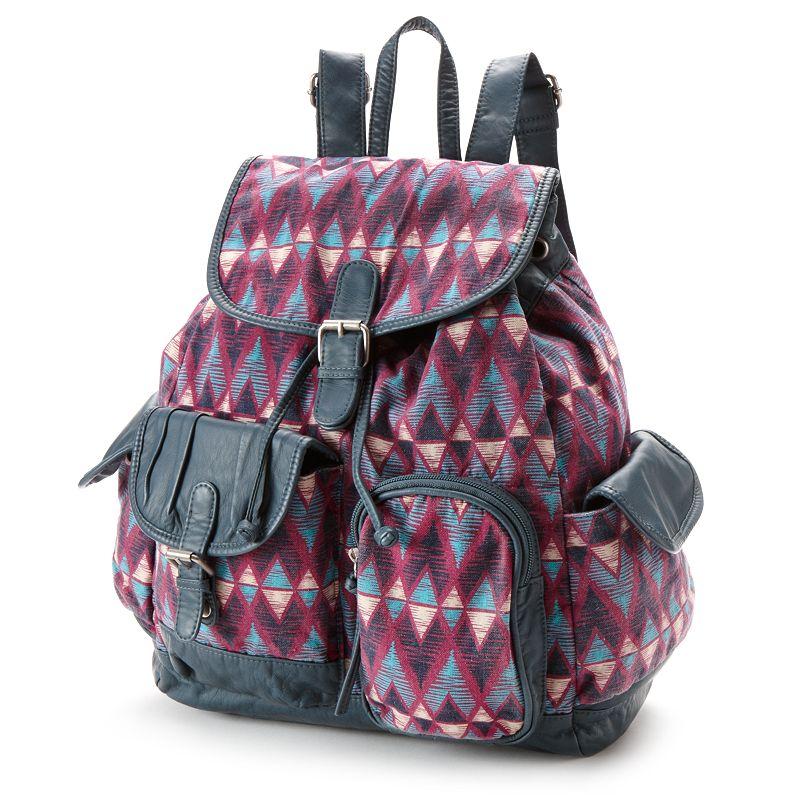 Mudd Laura Printed Backpack