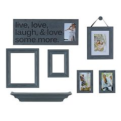 Melannco 7 pc 'Live, Laugh, Love' Frame & Wall Decor Set