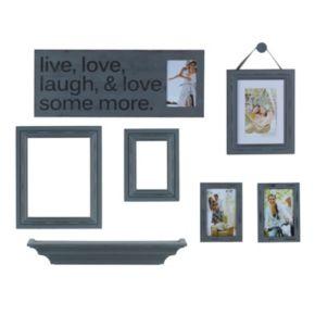"Melannco 7-piece ""Live, Laugh, Love"" Frame & Wall Decor Set"