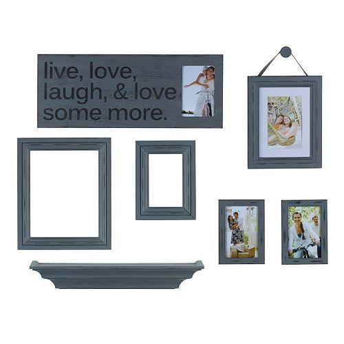melannco 7 piece live laugh love frame wall decor set