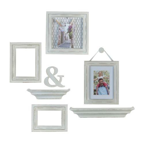 Melannco 7-piece Ampersand Frame & Wall Decor Set