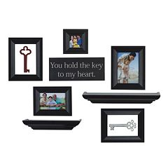 Melannco 10 pc Frame & Wall Decor Set