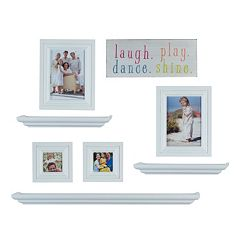 Melannco 8 pc Frame & Wall Decor Set