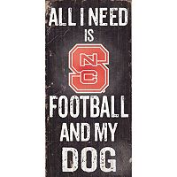 North Carolina State Wolfpack Football & My Dog Sign