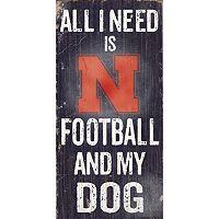 Nebraska Cornhuskers Football & My Dog Sign