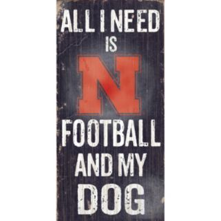 Nebraska Cornhuskers Football & My Dog Sign