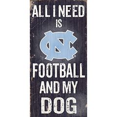 North Carolina Tar Heels Football & My Dog Sign