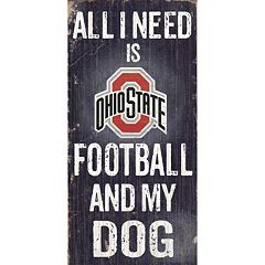 Ohio State Buckeyes Football & My Dog Sign