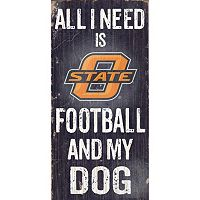 Oklahoma State Cowboys Football & My Dog Sign