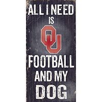 Oklahoma Sooners Football & My Dog Sign