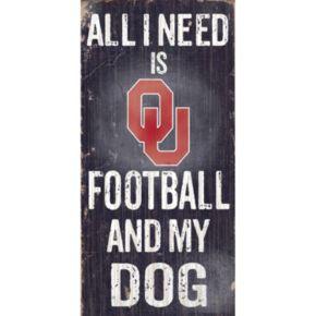 Oklahoma Sooners Football & My Dog Sign