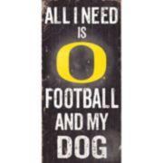 Oregon Ducks Football & My Dog Sign