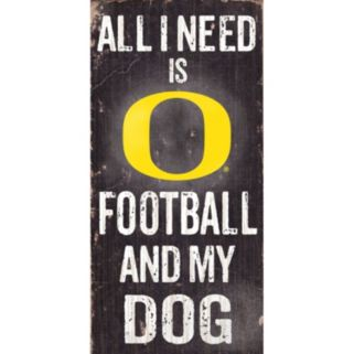 Oregon Ducks Football & My Dog Sign