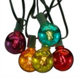 Kurt Adler Mercury Glass Christmas String Light Set