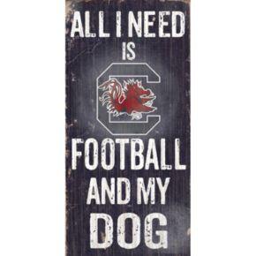 South Carolina Gamecocks Football & My Dog Sign