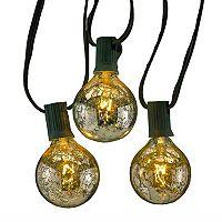 Kurt Adler Mercury Glass Christmas String Light Set