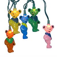 Kurt Adler Grateful Dead Bears 12-piece Light Set