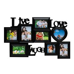 Melannco 8-Opening ''Live Laugh Love'' Collage Frame