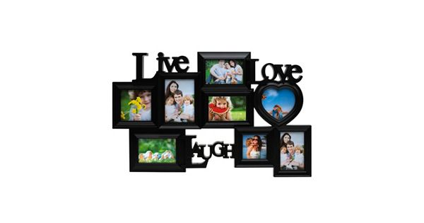 Melannco 8 Opening Live Laugh Love Collage Frame