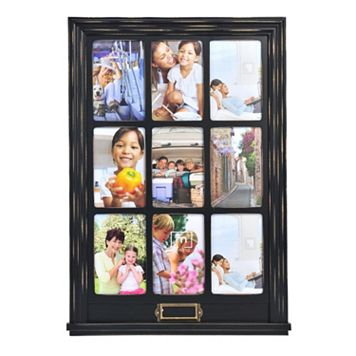 Melannco 9-Opening 4'' x 6'' Window Collage Frame