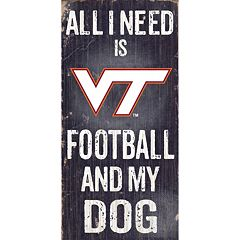 Virginia Tech Hokies Football & My Dog Sign