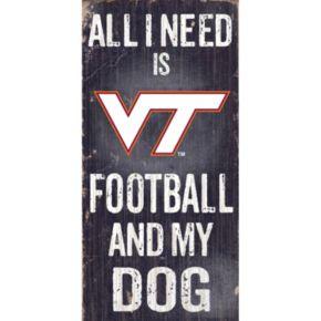 Virginia Tech Hokies Football & My Dog Sign