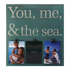Melannco 3-Opening 5'' x 7'' ''You Me Sea'' Collage Frame