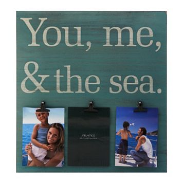 Melannco 3-Opening 5'' x 7'' ''You Me Sea'' Collage Frame