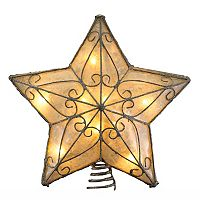 Kurt Adler Metal Star Christmas Tree Topper