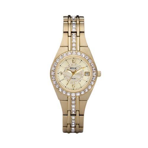 Relic Gold Tone Crystal Watch - ZR11778 - Women