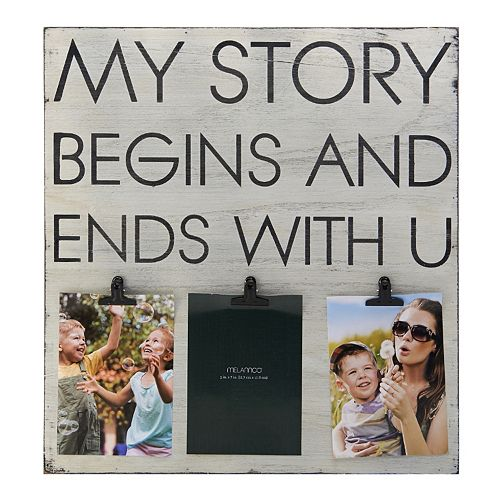 Melannco 3-Opening 5'' x 7'' ''My Story'' Collage Frame