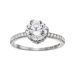 Cubic Zirconia 10k White Gold Ring