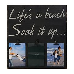 Melannco 3-Opening 5'' x 7'' ''Life's a Beach'' Collage Frame