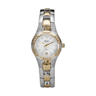 Relic Women's Crystal Two Tone Watch