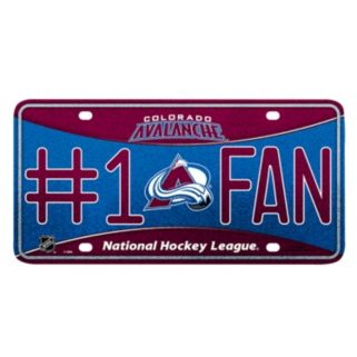 Colorado Avalanche #1 Fan Metal License Plate