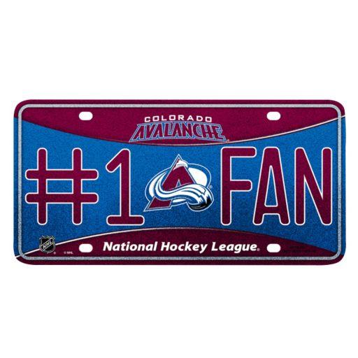 Colorado Avalanche #1 Fan Metal License Plate