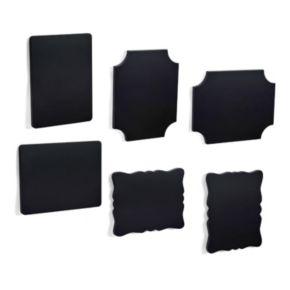 Melannco 6-piece 4'' x 6'' Chalkboard Frame Set