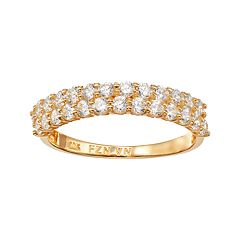 Cubic Zirconia 10k Gold Ring