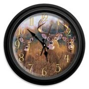 Reflective Art ''The Buck Stops Here'' Wall Clock