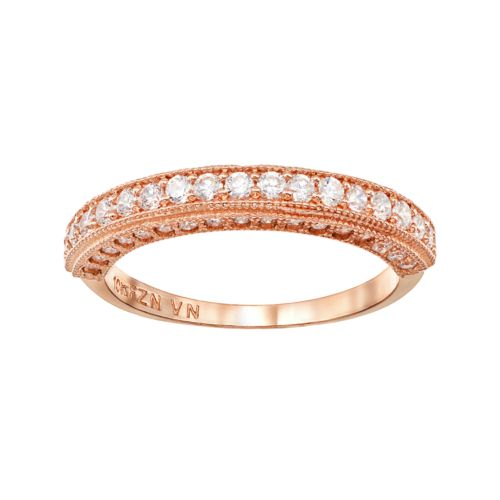 Cubic Zirconia 10k Rose Gold Ring